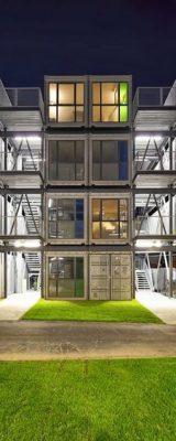 Edificio modular vidriado